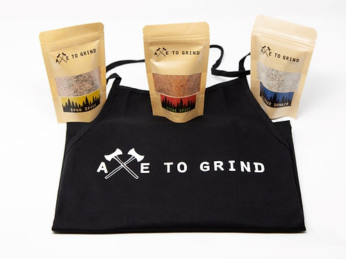 Spice Blend Gift Pack with Apron - Axe to Grind