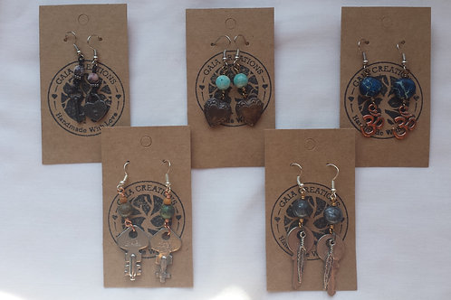 Upcycled Earrings - Gaia Creations