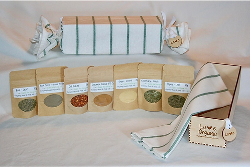 L.O.V.E. Organic Gift Box (House Warmer) - Love Organic Vital Energy
