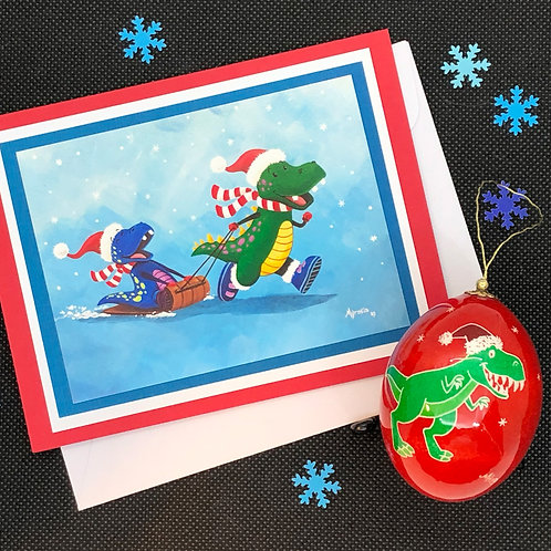 Christmas Ornament and Card Combo - Myrosia Painting and Pysanky