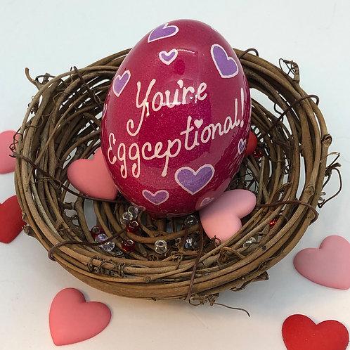 Valentine's Day Pysanka – You're Eggceptional - Myrosia Paintings and Pysanka