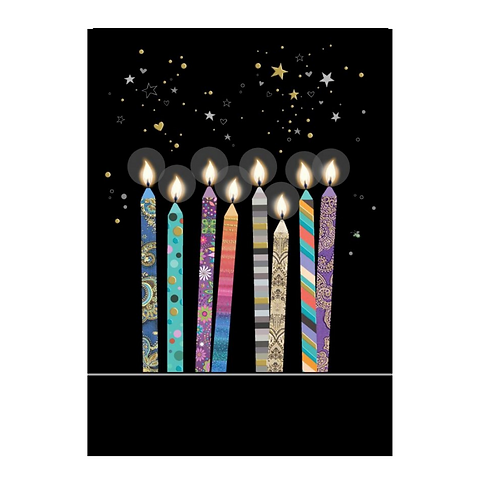 Greeting Card - Blank - CANDLES   (5″ X 7″) - Elements By Drala
