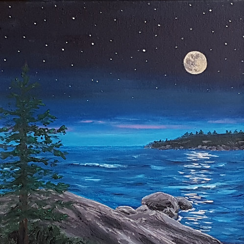 12 x 12 Painting (The Night Scene) - Paintings by Stephen Townsend