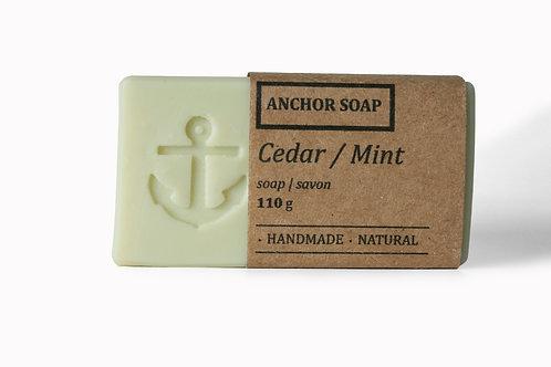 Cedar-Mint Soap Bar - Anchor Soap