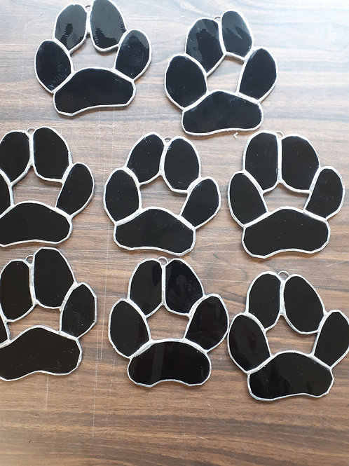 Stained Glass Dog Paws (4 inch) - Artisans Window Handcrafted Products