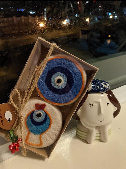 Felted Soap - Evil Eye (Set of 2) - Magic of Wool