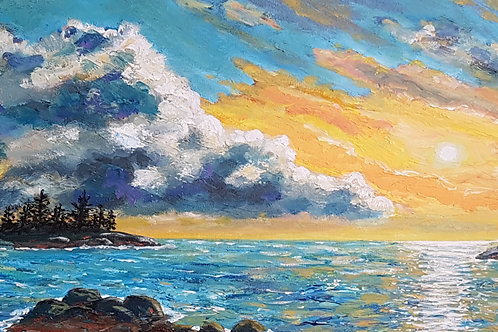 12 x 24 Acrylic on Gallery Canvas - Paintings by Stephen Townsend