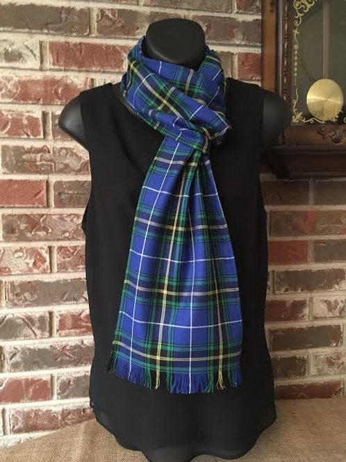 Nova Scotia tartan long fringed scarf   - Tartan Gal Designs