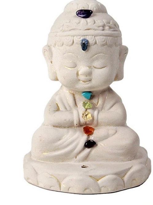 Gypsum Statue Chakras Incense Burner  - Elements By Drala