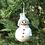 Thumbnail: Felted Christmas Ornament (Snowman) - Magic of Wool
