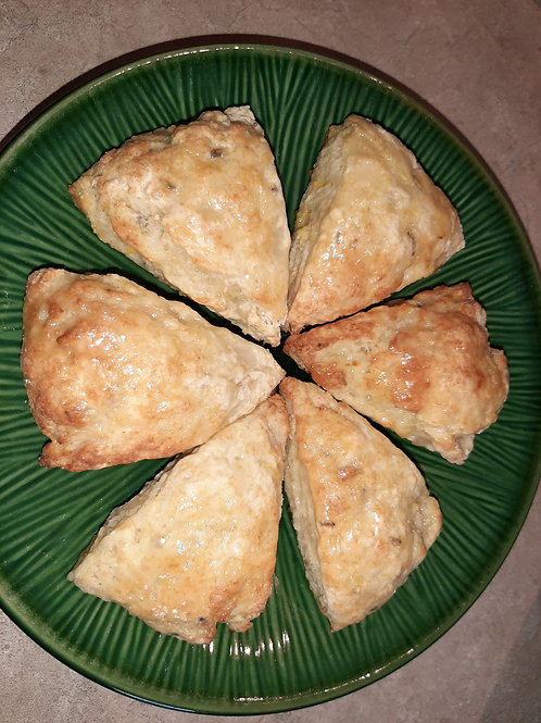 Raisin Scones (Dozen) - Karyn's Cookies and Treats