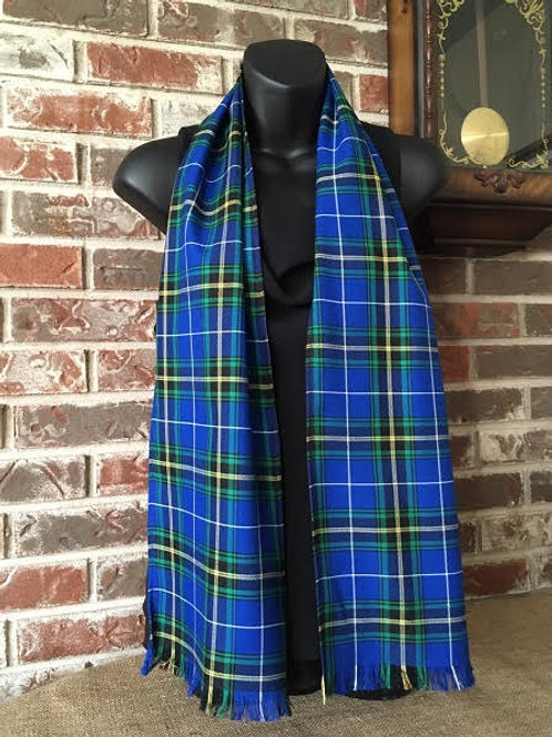"Nova Scotia tartan 60"" (150 cm) fringed scarf  - Tartan Gal Designs"