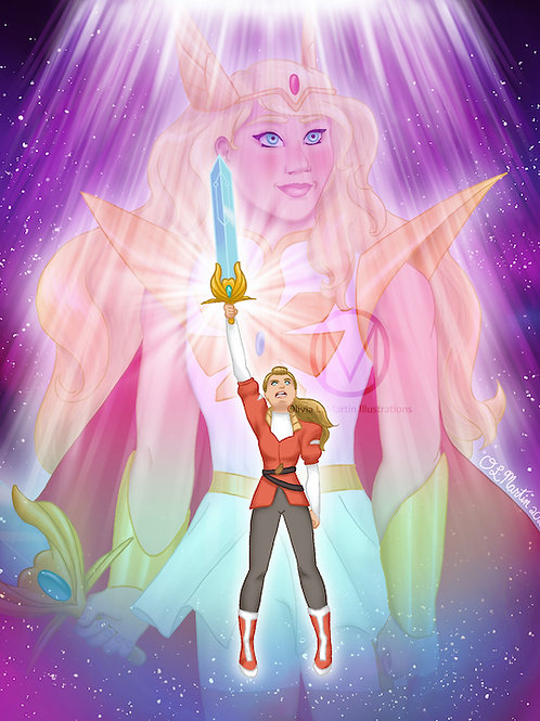 "Adora and She-Ra - 8x10"" art print"