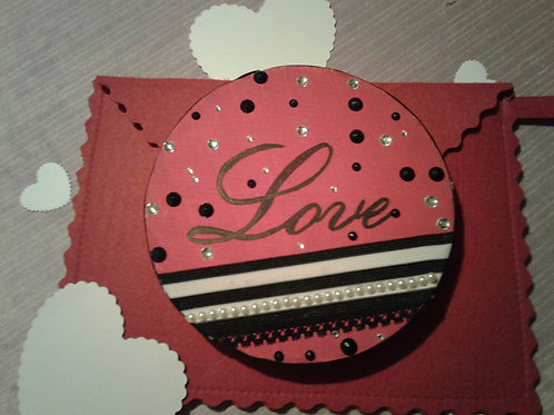 Round Bejeweled Love Sign (wooden)  - Yodi Originals