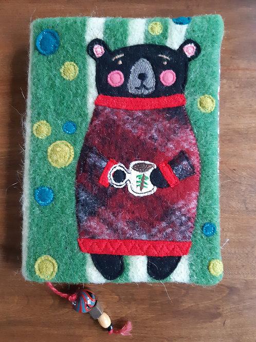 Bear with Cup of Tea Journal Cover - Meraki Designs
