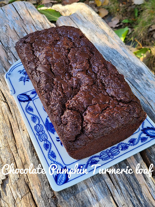 Chocolate Pumpkin Turmeric Loaf - Lively Bakery