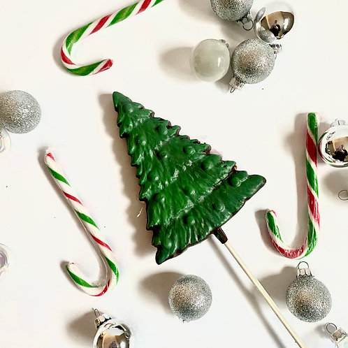 Large Christmas Tree Lollipop in White, Milk or Dark - Michelle Ashley's Bakery