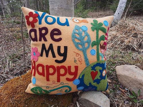 """You are my Happy"" Pillow - Meraki Designs"