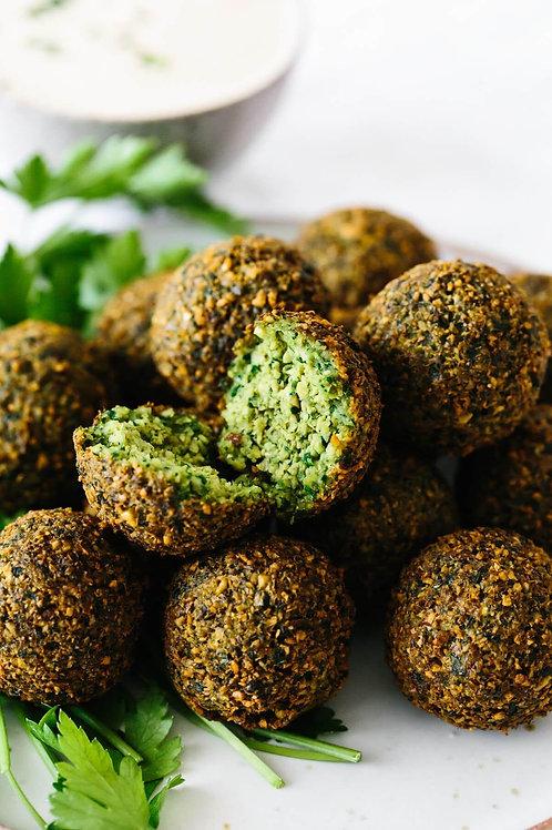Falafel + Tahini sauce (Vegetarian) 6 pcs - Bluebird Kitchen