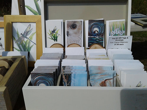 Tiny Art ( Framed) from a selection of original watercolours  - Yodi Originals