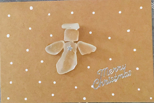4x6 Authentic NS Sea Glass Christmas Card (Angel) - Nature's Best Rocks