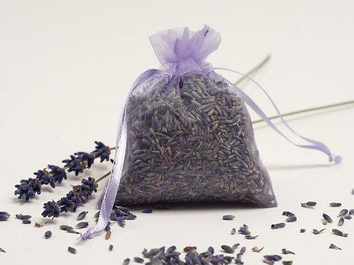Lavender Bud Sachet (approx. 10 gram organza pouch)- Seafoam Lavender Company