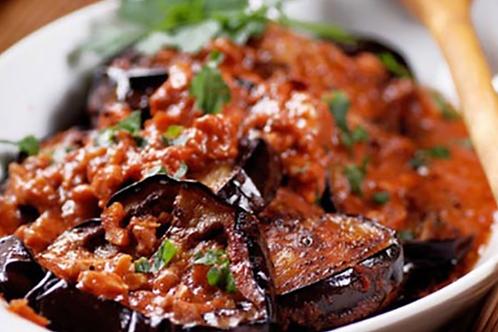 Egy. Moussaka and Rice - Bluebird Kitchen
