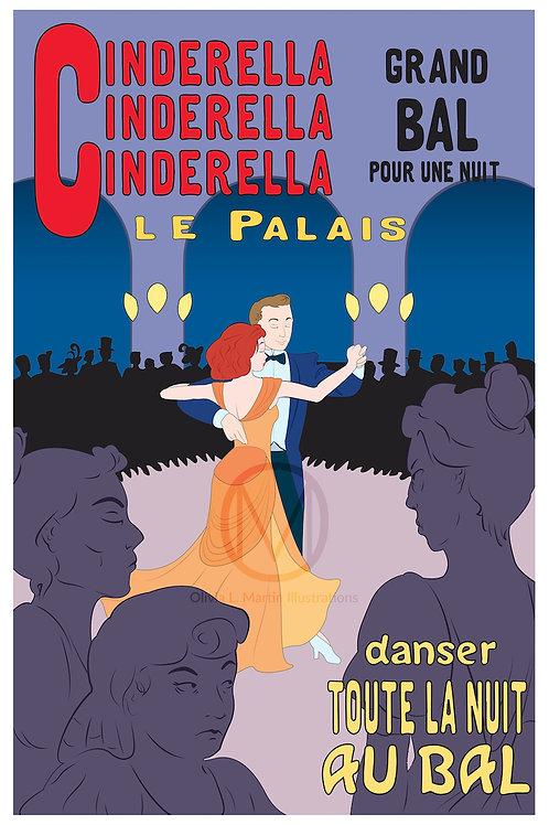 """Cinderella (After Toulouse-Lautrec) - 12x18"""" art print"""