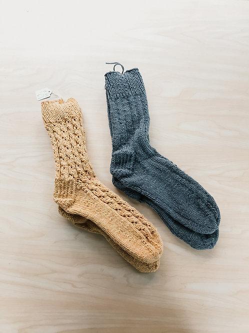 Knitted Wool Socks (Mens) - The Crochet Lady