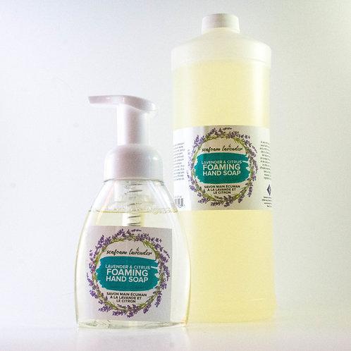 Lavender & Citrus Foaming Hand Soap - Seafoam Lavender Company