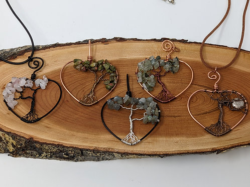 Tree of Life Pendants (Heart Designs) - Gaia Creations