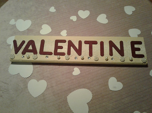 Valentine Bejeweled Wooden Sign- Yodi Originals