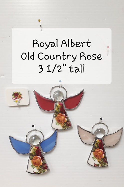 Stained GlassRoyal Albert OLD COUNTRY ROSE Angels(each) - Artisan Window