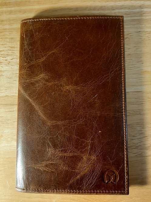 Men's Long Wallet Cognac - Ox Leather