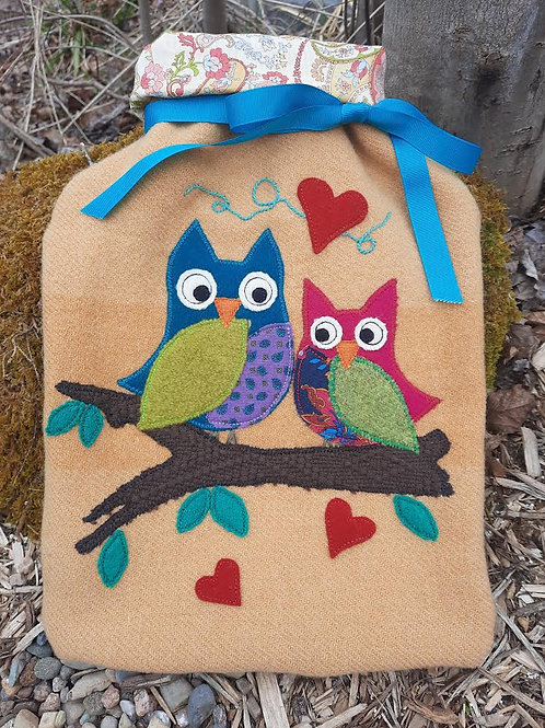 Owl Hot Water Bottle Cover - Meraki Designs