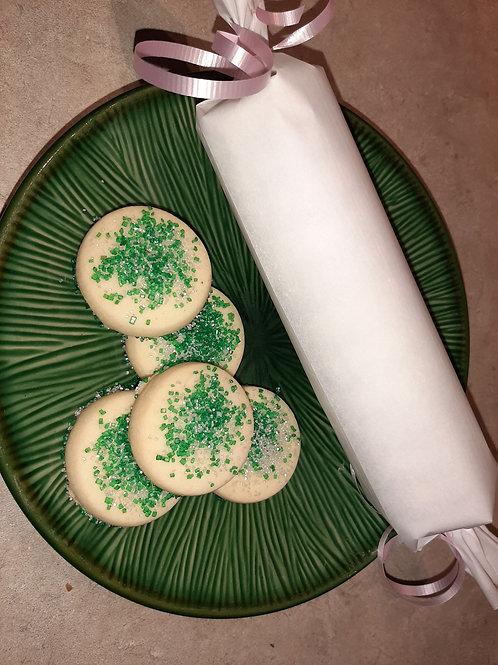 sugared shortbread (dozen) - Karyn's Cookies and Treats