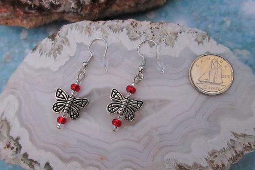 Red Butterflies Earrings - Linn's Creative Jewelry