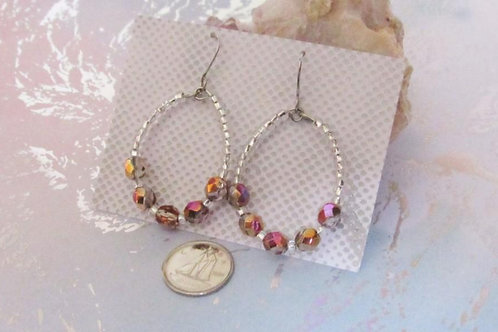 Irge Beaded Hoop Earrings - Linn's Creative Jewelry
