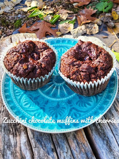Zucchini Chocolate Muffins G/F, D/F Sugar Free (box of 6) - Lively Bakery