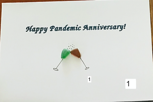 Authentic NS Sea Glass Cards (3pk Happy Anniversary) - Nature's Best Rocks