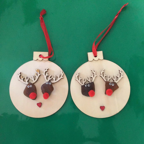 Authentic NS Brown Sea Glass Rudolph Ornaments - Nature's Best Rocks