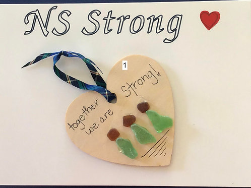 NS Sea Glass Greeting Card/Ornament - Nature's Best Rock