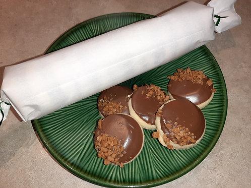 Chocolate Skor Shortbread  (dozen) - Karyn's Cookies and Treats