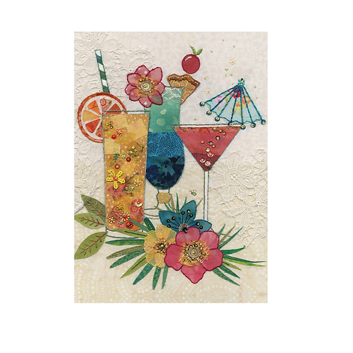 Greeting Card - Blank - COCKTAILS  (5″ X 7″) - Elements By Drala