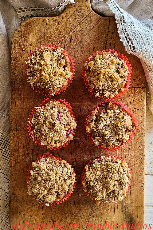 Apple Raspberry Crumble Muffin (G/F, D/F, Sugar-Free) - Box of 6 - Lively Bakery