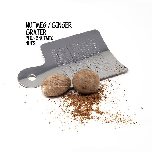 Nutmeg grater and 2 nutmeg nuts - Axe to Grind