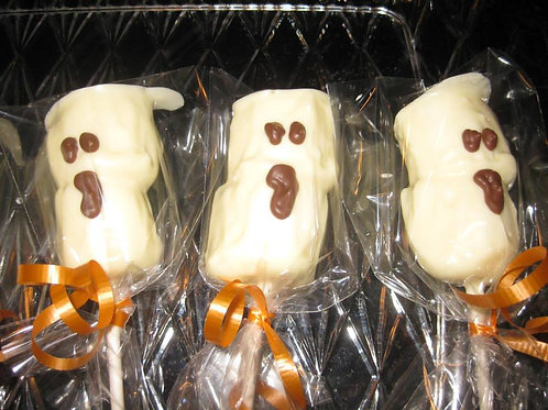 Ghost Marshmallow Pops (Set of 4)- Karyn's Cookies and Treats