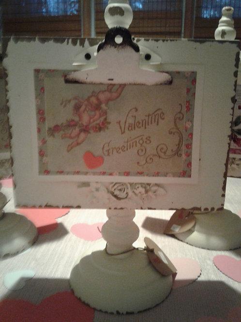 Vintage Pedestal Frame w/ Valentine Postcard - Yodi Originals