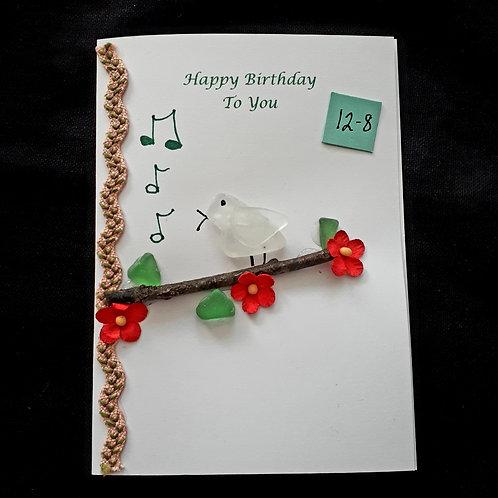 Sea Glass Birthday Card (12-8) - Sea to Shore