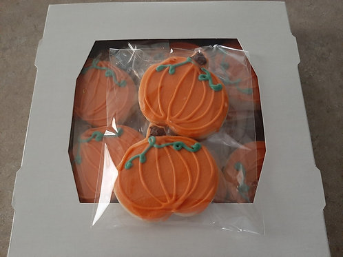 Chocolate Dipped Shortbread Pumpkins (boxed dozen) - Karyn's Cookies and Treats